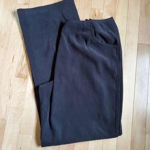 J.jill Black Stretch Wide Leg Pants SZ 16 Tal